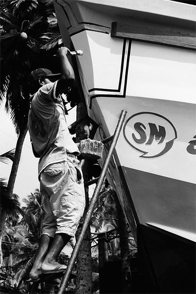 Ship Waits For Sailing (Sri Lanka)