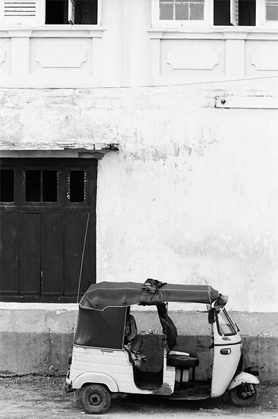 Three Wheeler Parked By The Wall @ Sri Lanka