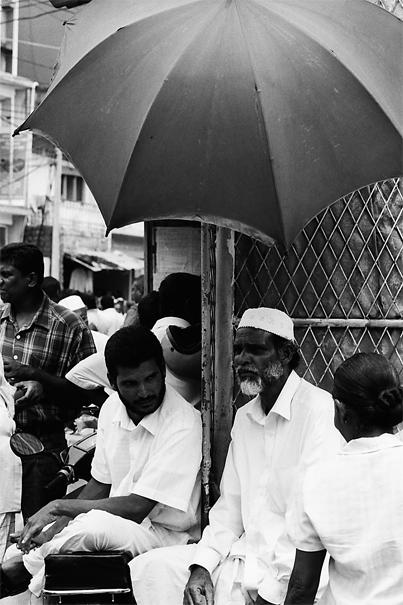 Bearded Man Under The Umbrella @ Sri Lanka