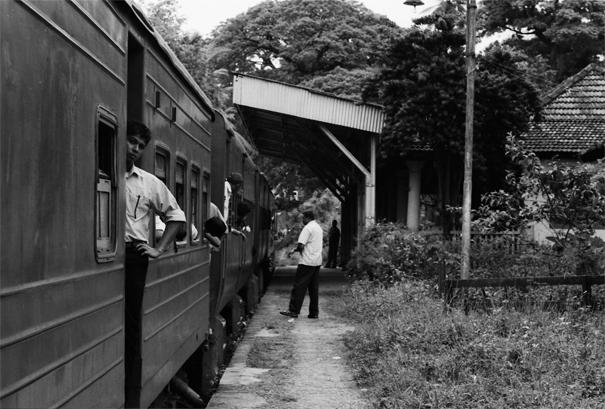 Train Stopped At A Small Station (Sri Lanka)