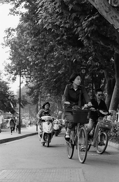 People Commuting By Bicycles (China)