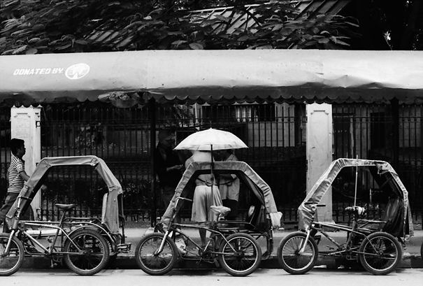 Tricycle With An Umbrella (Philippines)