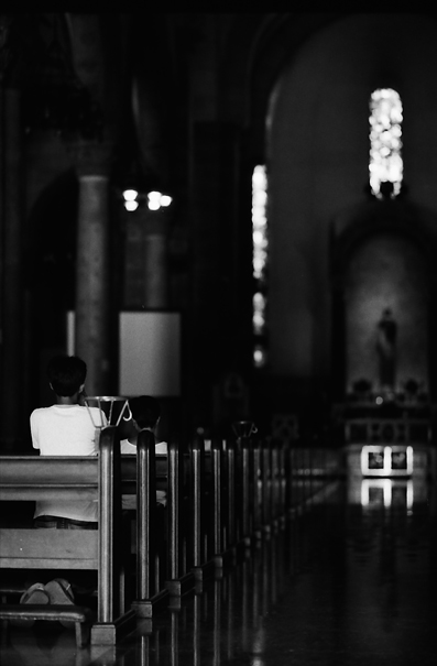 Worship In Manila Cathedral (Philippines)
