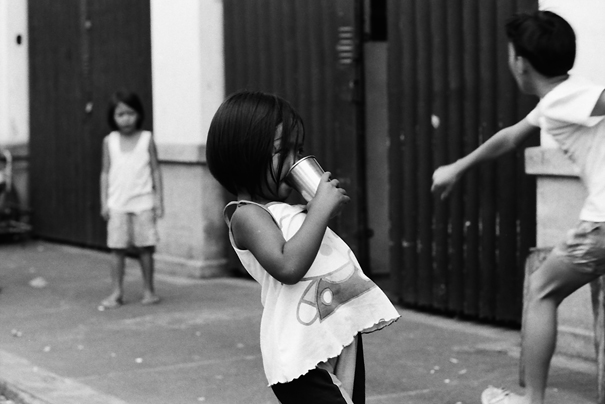 Girl Drinking Something Cold @ Philippines