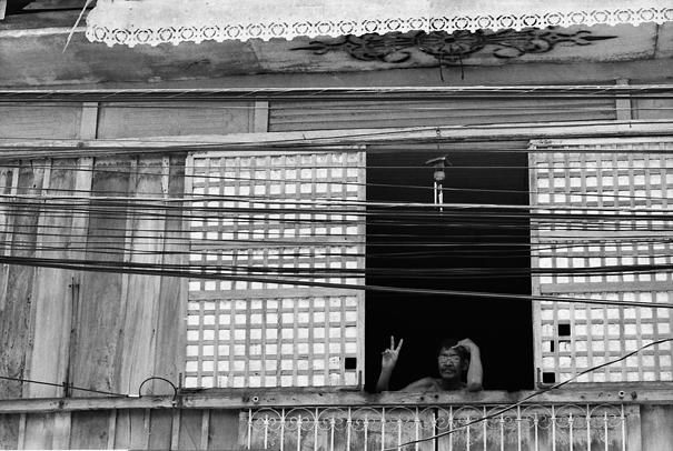 A Peace Sign By The Upstairs Window @ Philippines