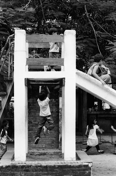 Children Around A Chute @ Philippines