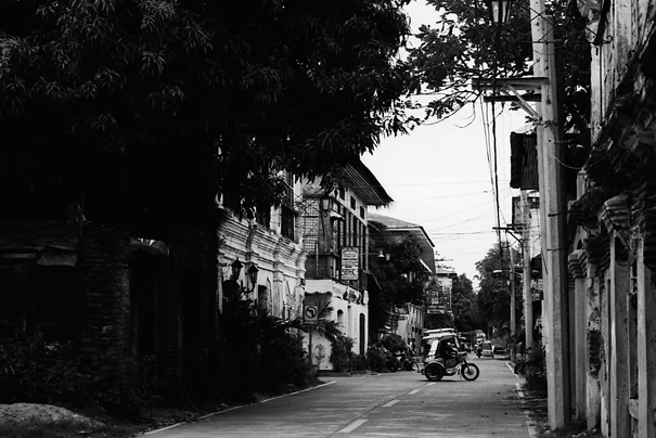 Tricycle At The End Of The Street (Philippines)