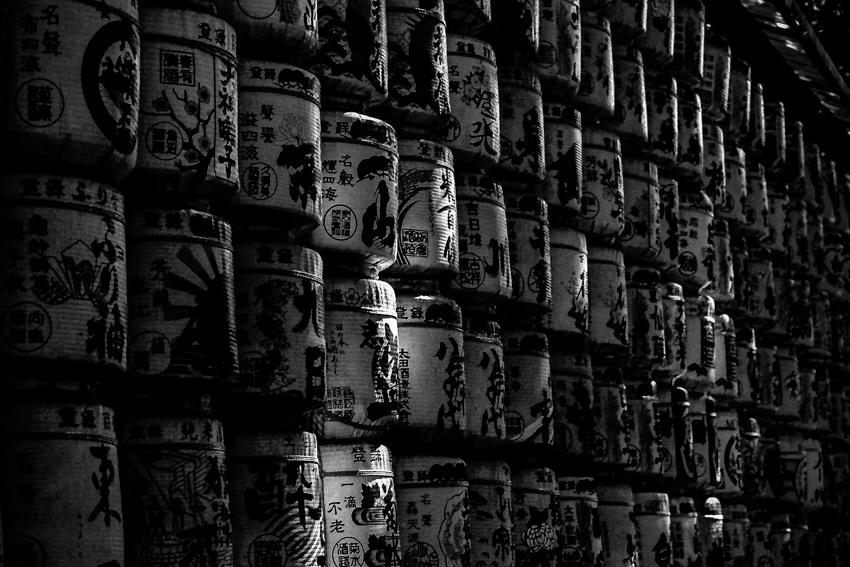 Sake barrels in Meiji Jingu