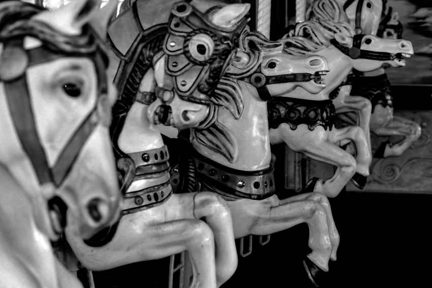回転木馬の馬たち