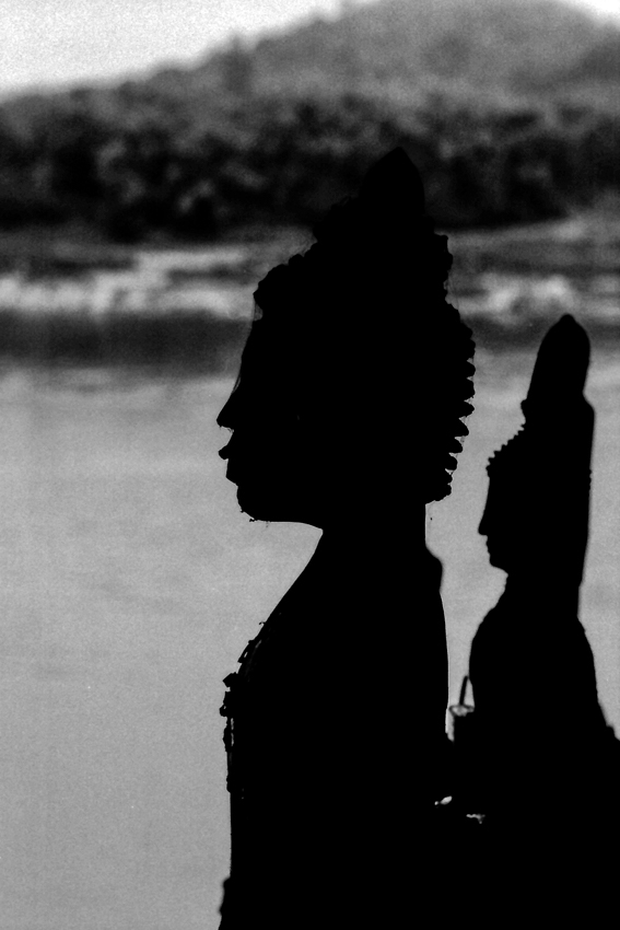 Silhouettes of Buddha image