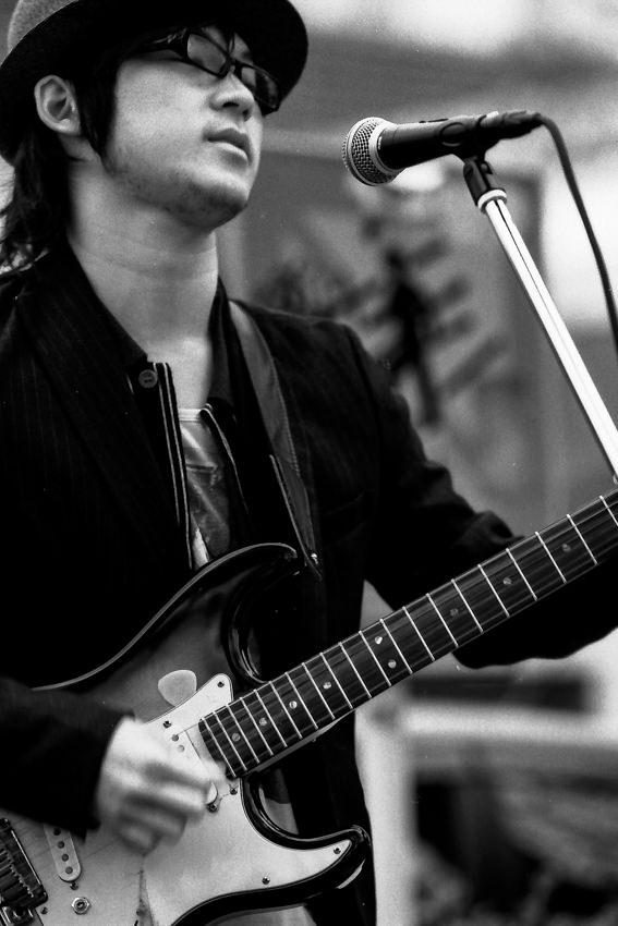 Guitarist wearing sunglasses