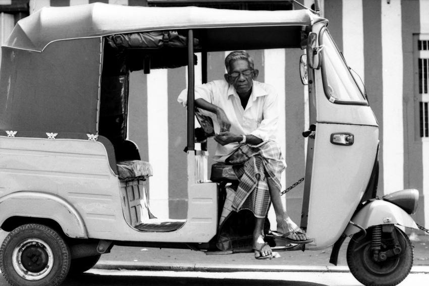 Three-wheeler driver