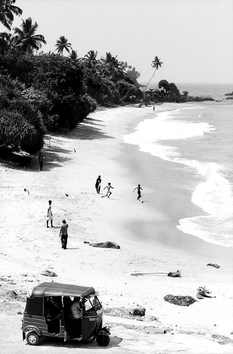 Three Wheeler Stopped At The Seaside (Sri Lanka)