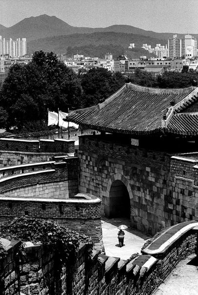 Umbrella Goes Through Hwaseomun (South Korea)