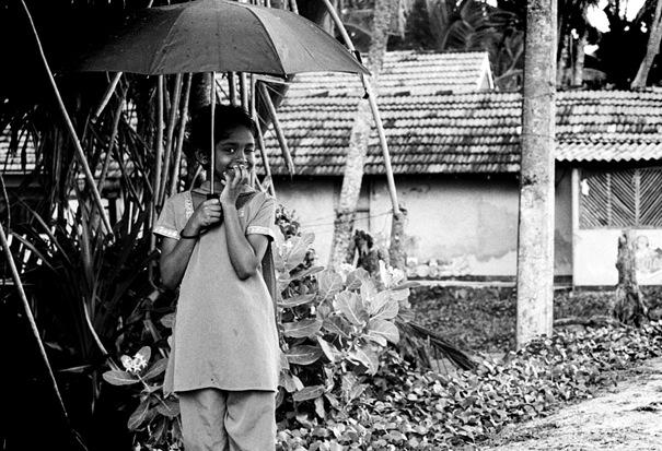 Girl Winked In The Rain @ Sri Lanka