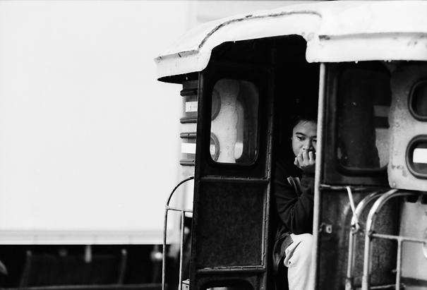 Thinking On A Jeepney (Philippines)