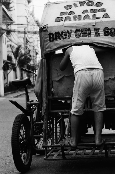 Peeping Into A Tricycle (Philippines)