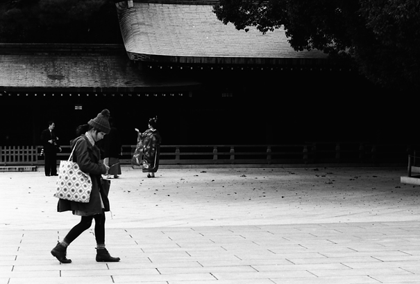 Girl Walking In The Shrine @ Tokyo