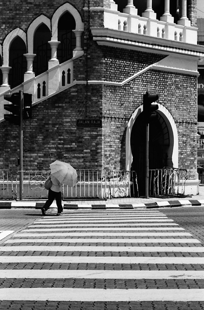 Umbrella On The Zebra Crossing @ Malaysia