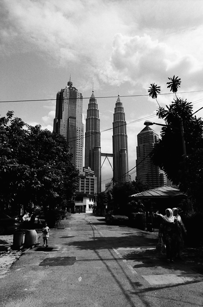 Skyscrapers At The End Of The Street @ Malaysia