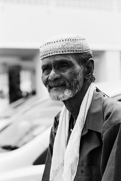 Man wearing Taqiyah