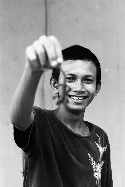 蜥蜴を手にした男 @ マレーシア