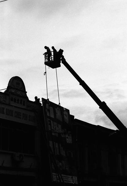 Silhouette Of A Crane @ Malaysia