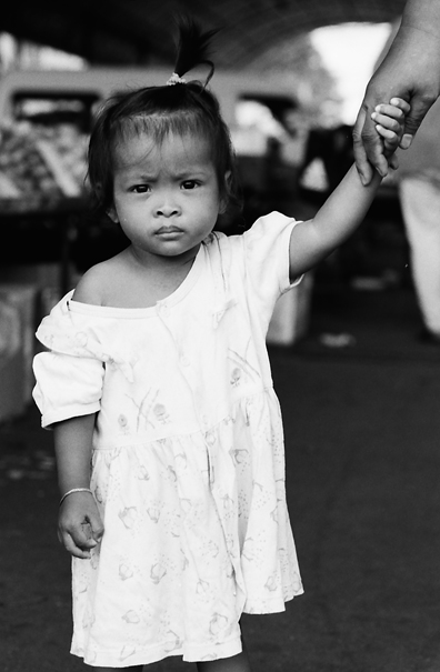 Girl Holding Her Mother's Hand @ Malaysia