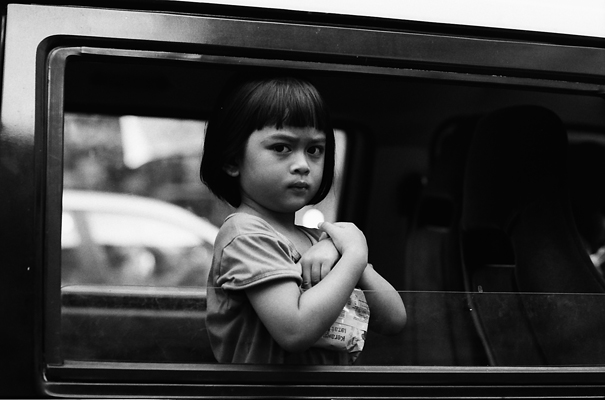 Girl From Car Window