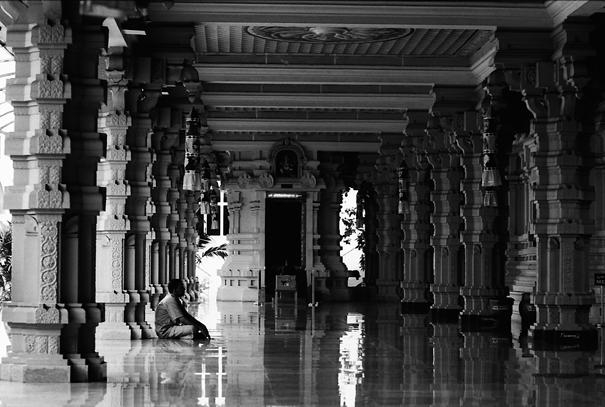 Shiny Floor In A Hindu Temple (Malaysia)