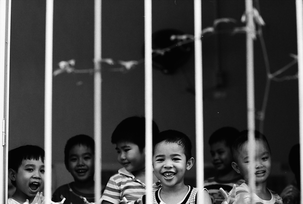 Kids At The Other Side Of Bars (Vietnam)