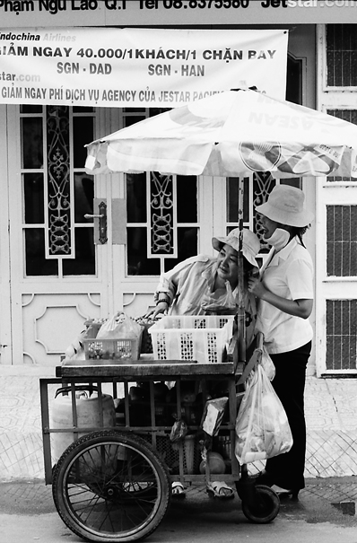 Two Women At A Food Stall @ Vietnam