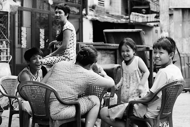 Happy Circle On The Sidewalk (Vietnam)