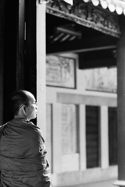 Monk In A Temple (Vietnam)