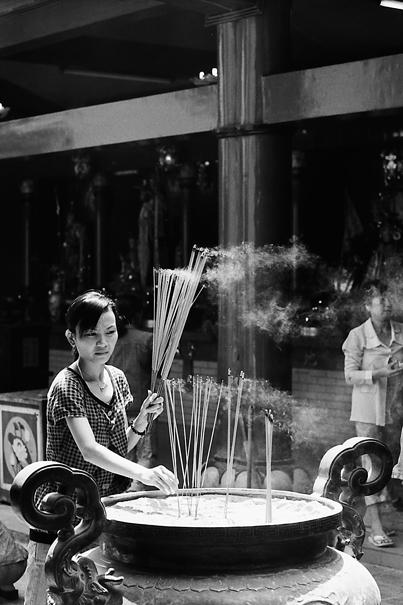 Joss Stick In Her Hand @ Vietnam