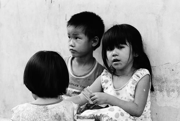 Three Kids Hanging Out (Vietnam)