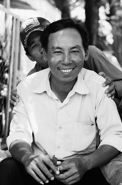 Smiling Man And His Mischievous Friend @ Vietnam