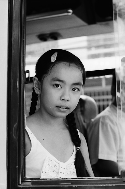 Girl With Plait Hair On The Bus (Vietnam)