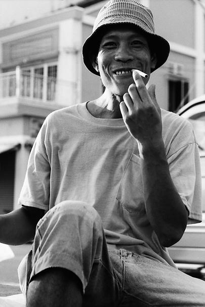 Having A Smoke After Work (Vietnam)