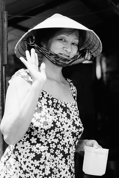 Greeting Of A Floral Dress @ Vietnam