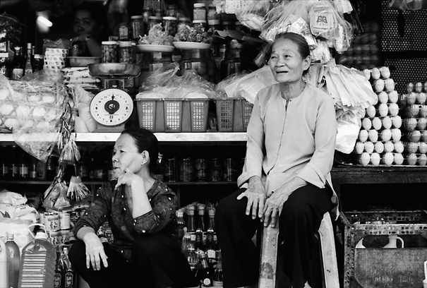 Two Older Women In The Storefront (Vietnam)