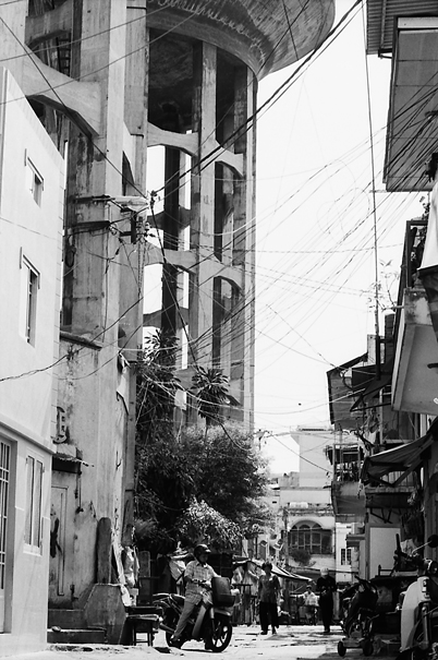 A Street Near A Big Water Tower @ Vietnam