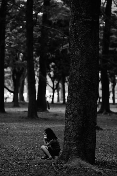 Girl in grove