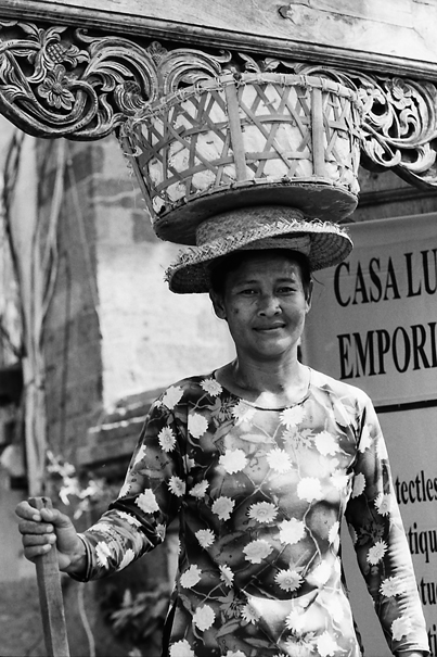 Woman Putting A Basket On The Head @ Indonesia