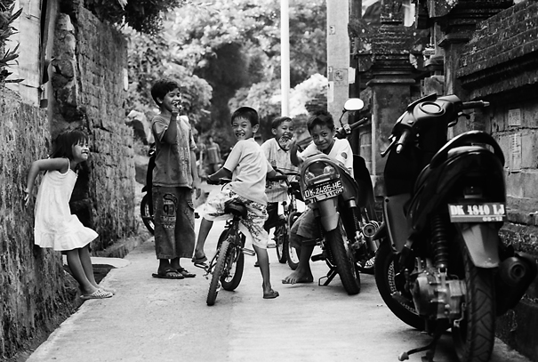 Laughing Children In The Alley (Indonesia)