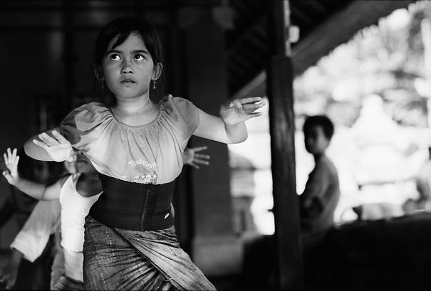 Girl practicing Balinese dance