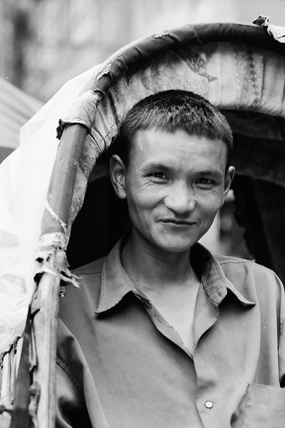 Half Smile Of A Rickshaw Wallah (Nepal)