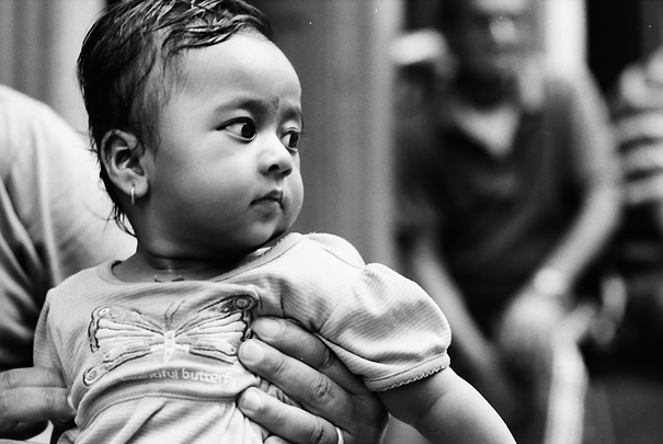 Baby With Big Round Eyes @ Nepal