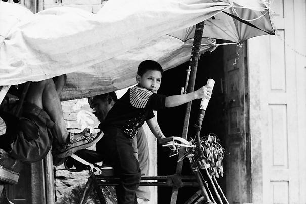 Boy Riding Like A Grown-up @ Nepal