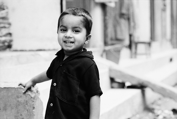 Boy Wearing A Black Shirt Smiled (Nepal)